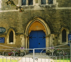 Blue Door at the Church
