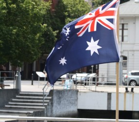 Ausssie Flag in Hobart