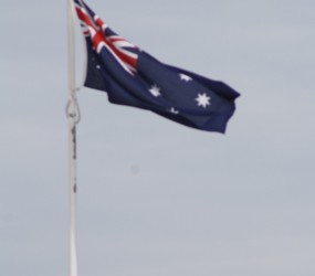 Aussie Flag from my rooftop, Coogee Beach
